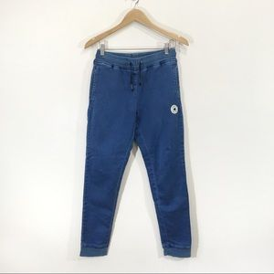 Converse Sweatpants Ankle Jogger Blue Sz Small